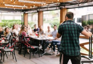Execute at your next speaking opportunity